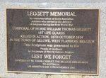 Leggett Memorial : 13-October-2012
