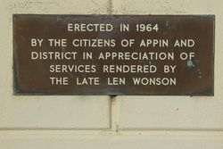 Plaque Inscription:20-July-2015