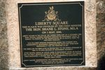 Liberty Square Inscription