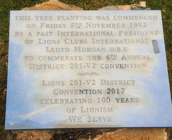 New Plaque : 03-November-2017 (Leigh Morgan)