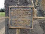 Memorial Gates Inscription : October 2013