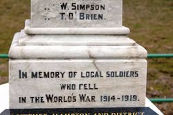 WW1 Inscription: 25-September-2016 (Roger Johnson)