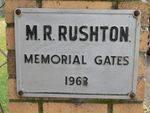 M. R. Rushton : 08-November-2011
