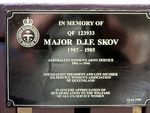Major D J F Skov Plaque