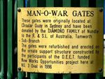 Man O War Gates Inscription 1