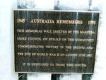 Mareeba Memorial Wall Plaque