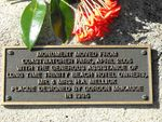 Marlin Coast Memorial Relocation Plaque -Peter F Williams
