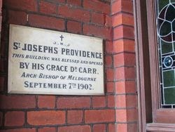 St Joseph`s Providence Plaque : 29-July-2015