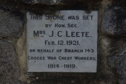 Coogee War Chest Plaque: 19-September-2014