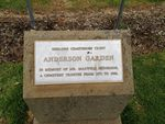 Anderson Plaque : June 2014