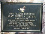 May Riesenletter Plaque