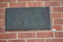 WW2 Plaque : 19-April-2015