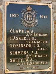 WW2 Plaque: 30-April-2015
