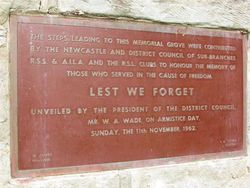 Plaque Inscription: 28-December-2014