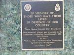 Memorial Plaque Inscription Oct 2012