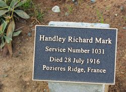 Handley Plaque : 07-August-2015