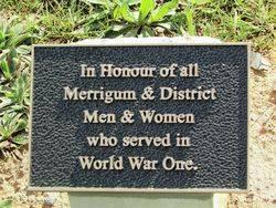 World War One Plaque : 07-August-2014