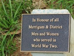 World War Two Plaque: 07-August-2015