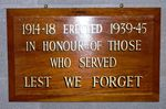 Methodist Church Honour Roll : 14-May-2013