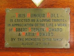 Howard Plaque : 11-January-2016