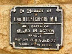 Uetchford Plaque : 20-December-2014