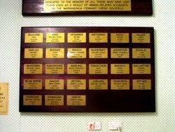 Miners Memorial Board