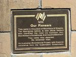 Moore Pioneers Plaque