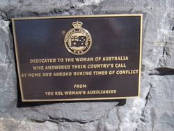 Women of Australia Plaque : 31-March-2015