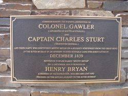 Gawler, Sturt & Bryan Plaque: 12-Ocotber-2002