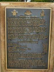WW2 Plaque : 18-November-2014