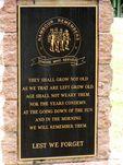 Nambour Remembers Plaque