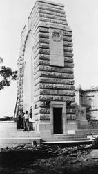 1930 : Monument construction : State Library of South Australia - B-62526