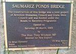 Opening of Saumarez Ponds Bridge : 09-December-2012