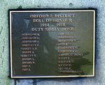 Orford War Memorial : 24-August-2011