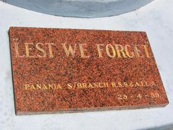 Panania RSL Plaque : 01-January-2015