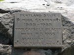 Pentland State School Centenary Inscription