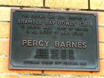 Percy Barnes Inscription