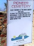 Pioneer Cemetery Sign