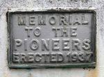 Pioneer Memorial :14-May-2013
