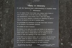 Unity in Adversity Plaque: 08-November-2016