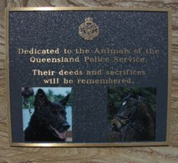 Queensland Police Service Animal Memorial