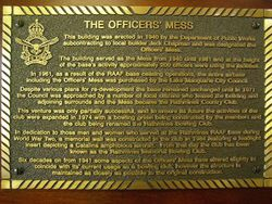 Officers Mess Plaque : 05-January-2014