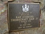 Ray (Cheesie) Thorncraft Plaque
