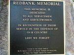 Redbank Memorial Dedication Plaque