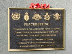 Peace Keeping Plaque: 05-May-2016