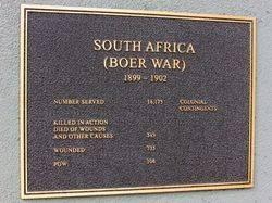 Boer War Plaque: 05-May-2016