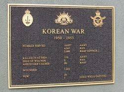 Korean War Plaque: 05-May-2016