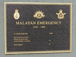 Malayan Emergency Plaque: 05-May-2016