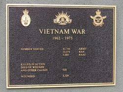 Vietnam War Plaque : 05-May-2016