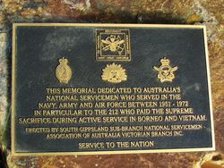 National Service Plaque: 05-May-2016